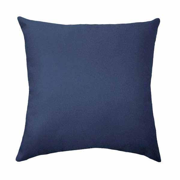 Solid Black Linen Pillow