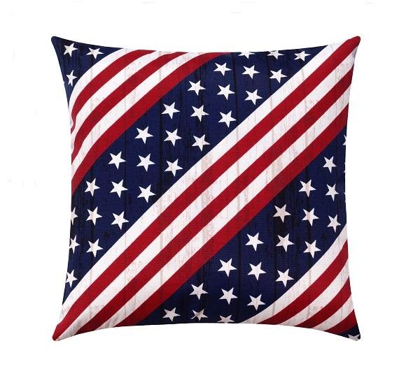 Stars and Stripes Patriotic Outdoor Pillow - Land of Pillows