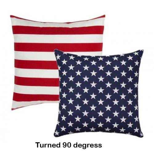 Stars and Stripes Red White and Blue Reversible Patriotic Flag Pillow - Land of Pillows