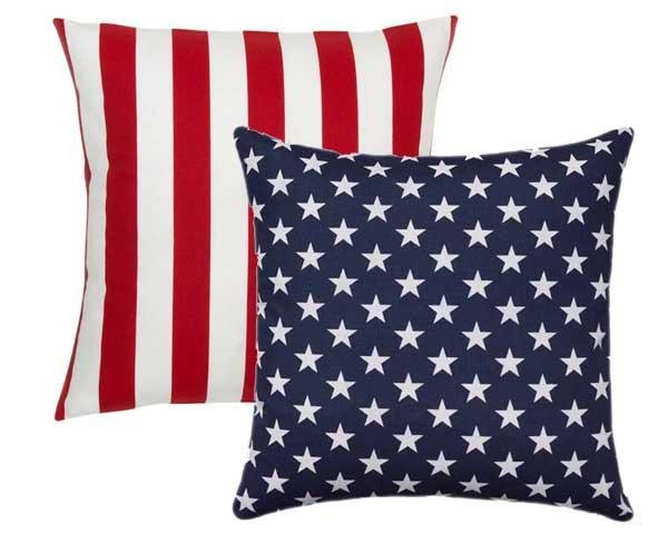 Stars and Stripes Reversible Patriotic Outdoor Pillow - Land of Pillows