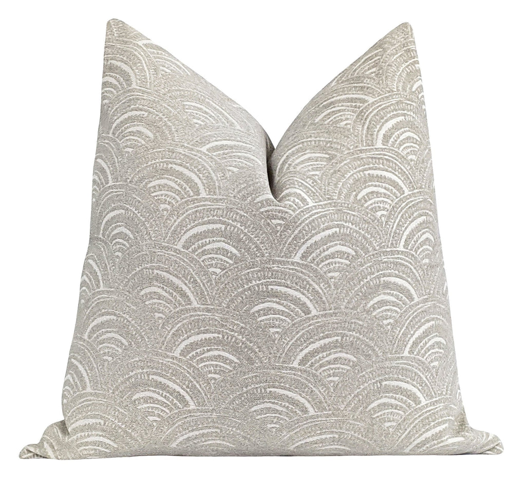 Storm Grey Arches Chenille Pillow - Land of Pillows