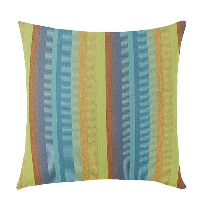 Sunbrella Astoria Lagoon Stripe Outdoor Pillow - Land of Pillows