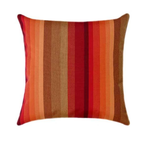 Sunbrella Astoria Sunset Stripe Outdoor Pillow - Land of Pillows