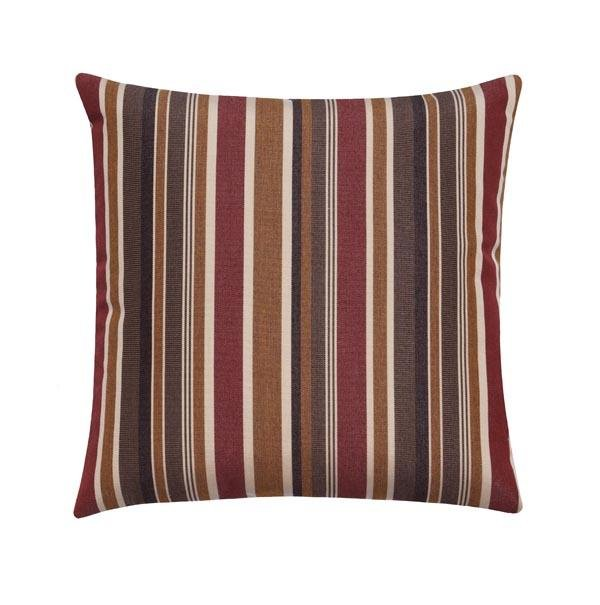 Sunbrella Brannon Redwood Stripe Outdoor Pillow - Land of Pillows