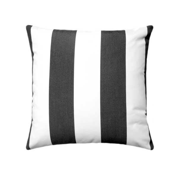 Sunbrella Cabana Classic Black Stripe Outdoor Pillow - Land of Pillows