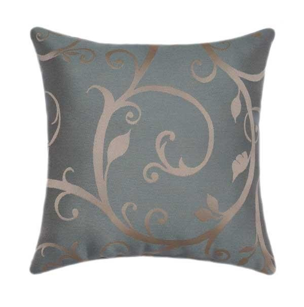 Sunbrella Cabaret Blue Haze Floral Outdoor Pillow - Land of Pillows