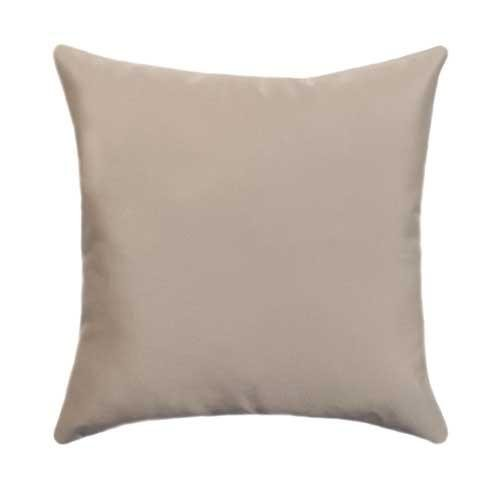 Sunbrella Canvas Bay Brown Outdoor Pillow