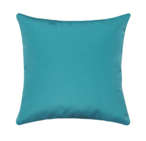 Sunbrella Canvas Aruba Blue Outdoor Pillow - Land of Pillows
