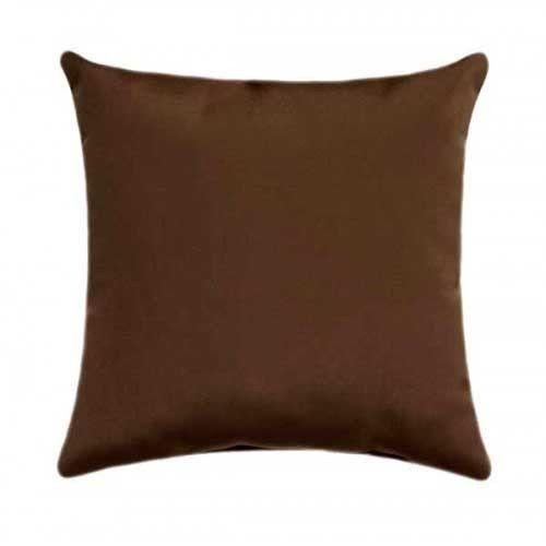 Sunbrella Canvas Cocoa Outdoor Pillow