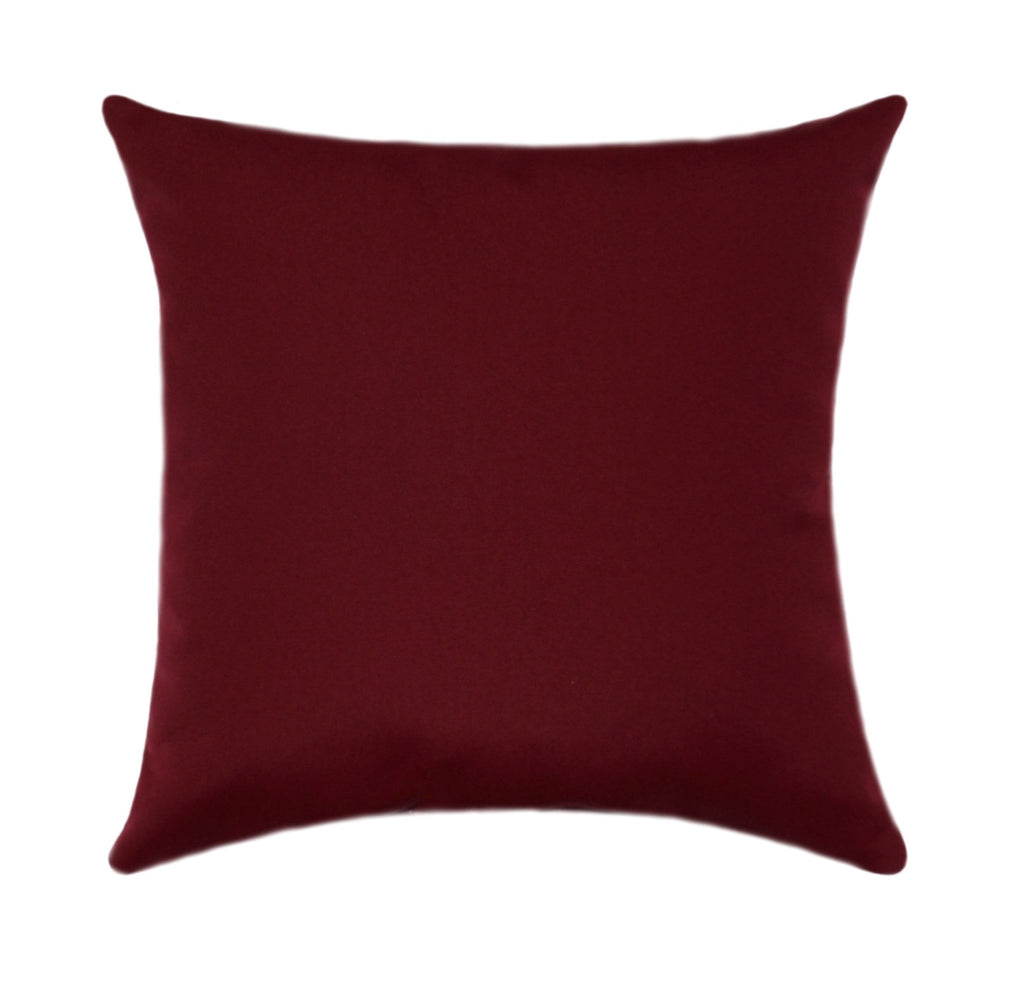 Sunbrella Canvas Burgundy Outdoor Pillow - Land of Pillows