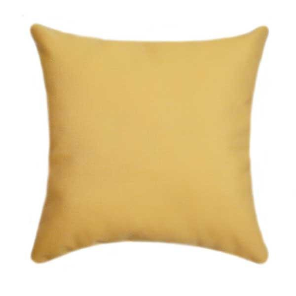 Sunbrella Canvas Buttercup Yellow Outdoor Pillow - Land of Pillows