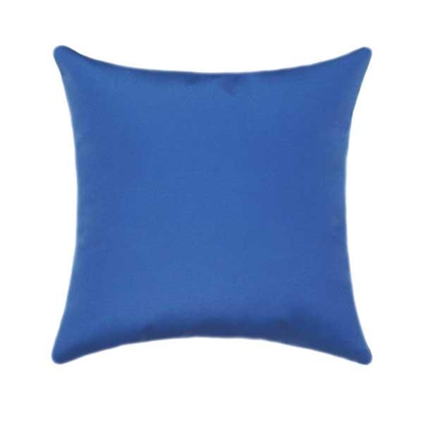 Sunbrella Canvas Capri Blue Outdoor Pillow - Land of Pillows