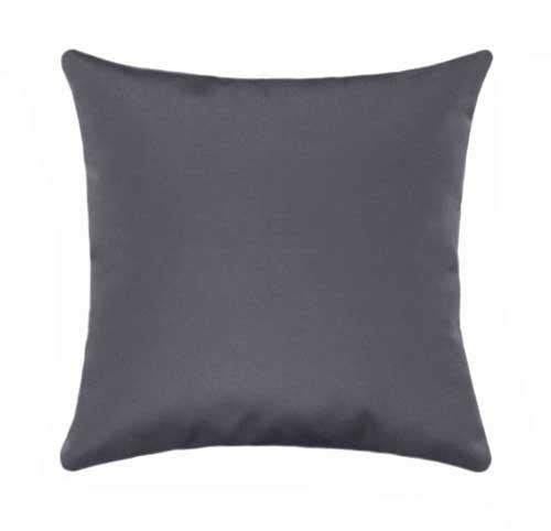 Sunbrella Canvas Charcoal Grey Outdoor Pillow - Land of Pillows