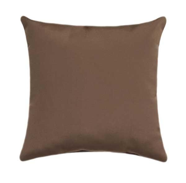 Sunbrella Canvas Cocoa Outdoor Pillow - Land of Pillows