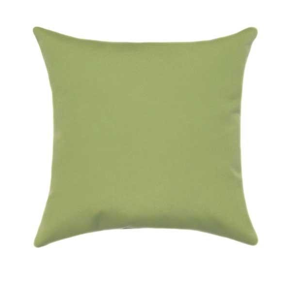 Sunbrella Canvas Ginkgo Green Outdoor Pillow - Land of Pillows