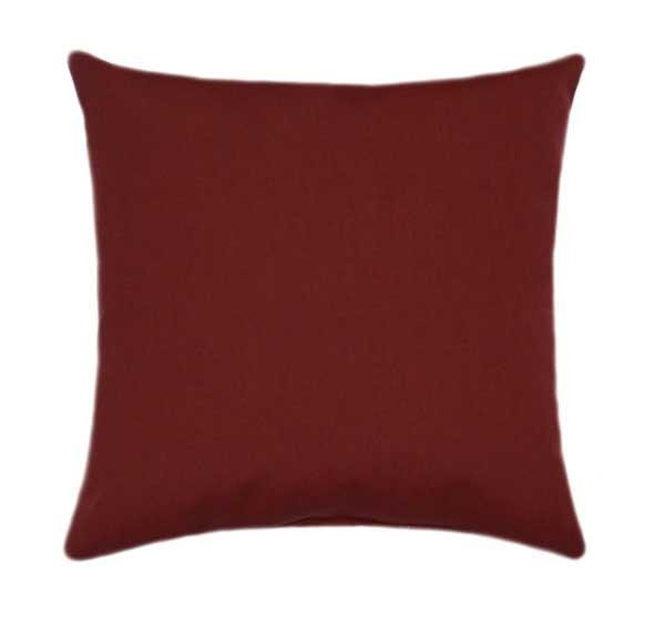 Sunbrella Canvas Henna Red Outdoor Pillow - Land of Pillows