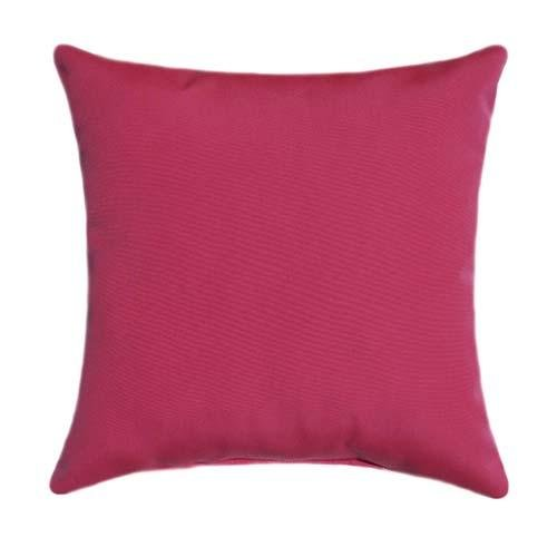 Sunbrella Canvas Logo Red Outdoor Pillow