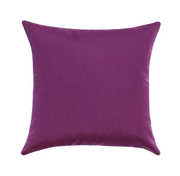Sunbrella Canvas Iris Purple Outdoor Pillow - Land of Pillows
