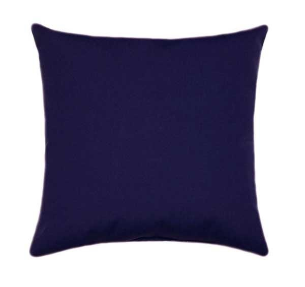 Sunbrella Canvas Regatta Blue Outdoor Pillow