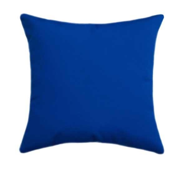Sunbrella Canvas Pacific Blue Outdoor Pillow - Land of Pillows