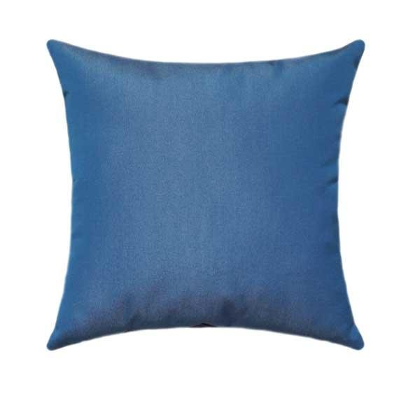 Sunbrella Canvas Regatta Blue Outdoor Pillow - Land of Pillows