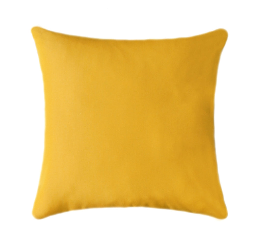Sunbrella Canvas Sunflower Yellow Outdoor Pillow - Land of Pillows