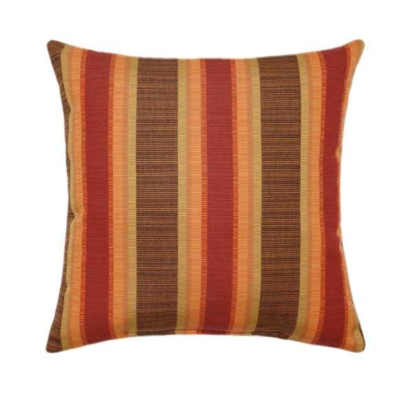 Sunbrella Dimone Sequoia Stripe Outdoor Pillow - Land of Pillows