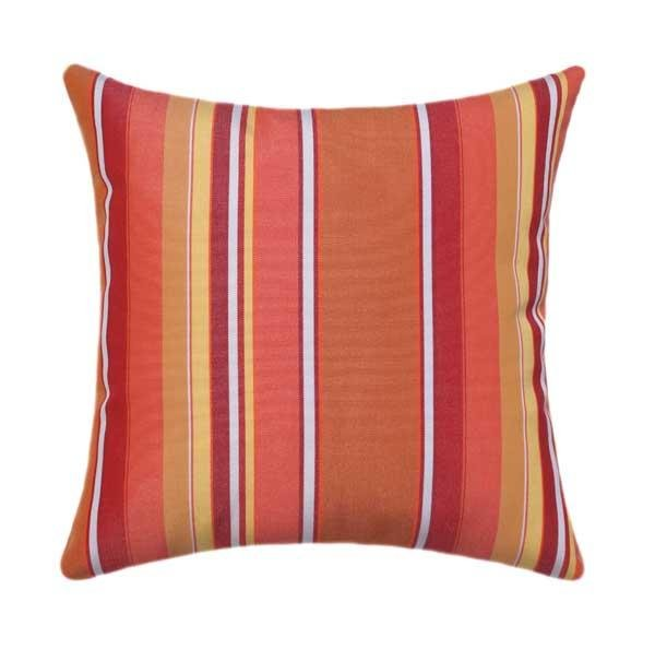 Sunbrella Dolce Mango Stripe Outdoor Pillow - Land of Pillows