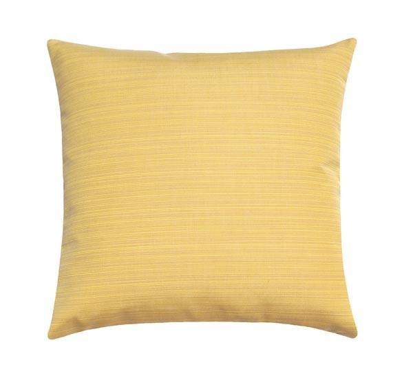 Sunbrella Dupione Cornsilk Yellow Outdoor Pillow - Land of Pillows