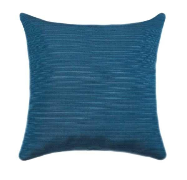 Sunbrella Dupione Deep Sea Blue Outdoor Pillow - Land of Pillows