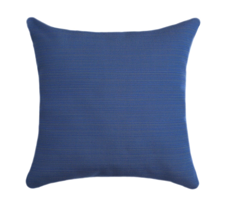 Sunbrella Dupione Galaxy Blue Outdoor Pillow - Land of Pillows