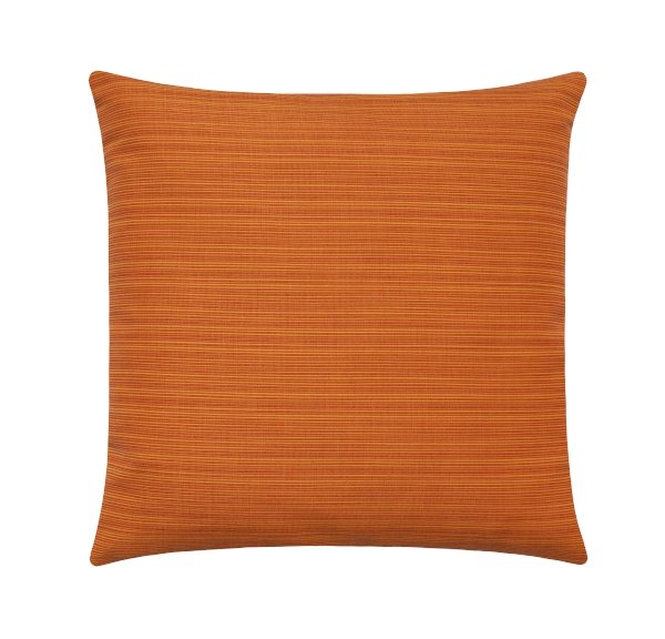 Sunbrella Dupione Nectarine Orange Outdoor Pillow - Land of Pillows