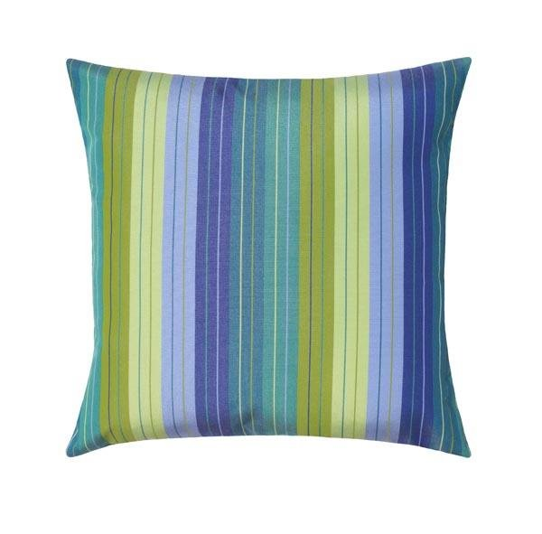 Sunbrella Seville Seaside Blue & Green Stripe Outdoor Pillow - Land of Pillows