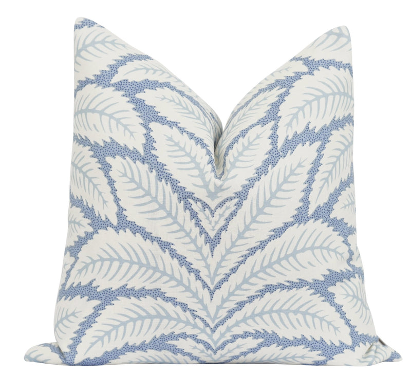 Talavera Aqua Blue Linen Pillow - Land of Pillows