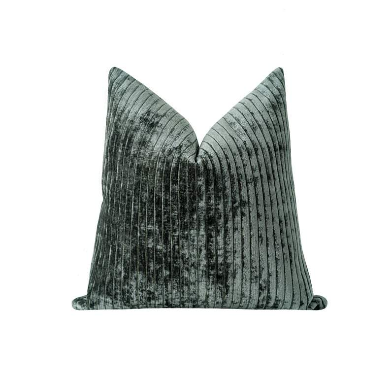Tiago Natural Tiger Print Velvet Pillow