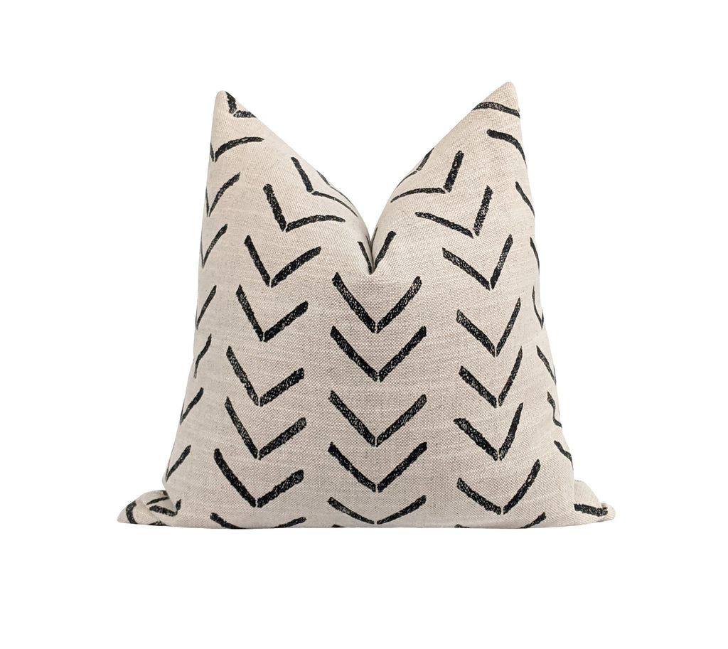 Tribal Arrow Fossil Mud Cloth Print Pillow - Land of Pillows