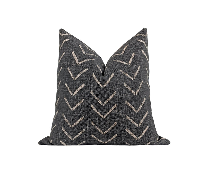 Salem Fossil Tribal Arrow Print Pillow