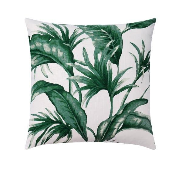 Tropical Green Palm Leaf Pillow - Land of Pillows