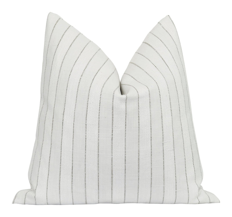 Woodbridge Chalk Woven Stripe Pillow - Land of Pillows