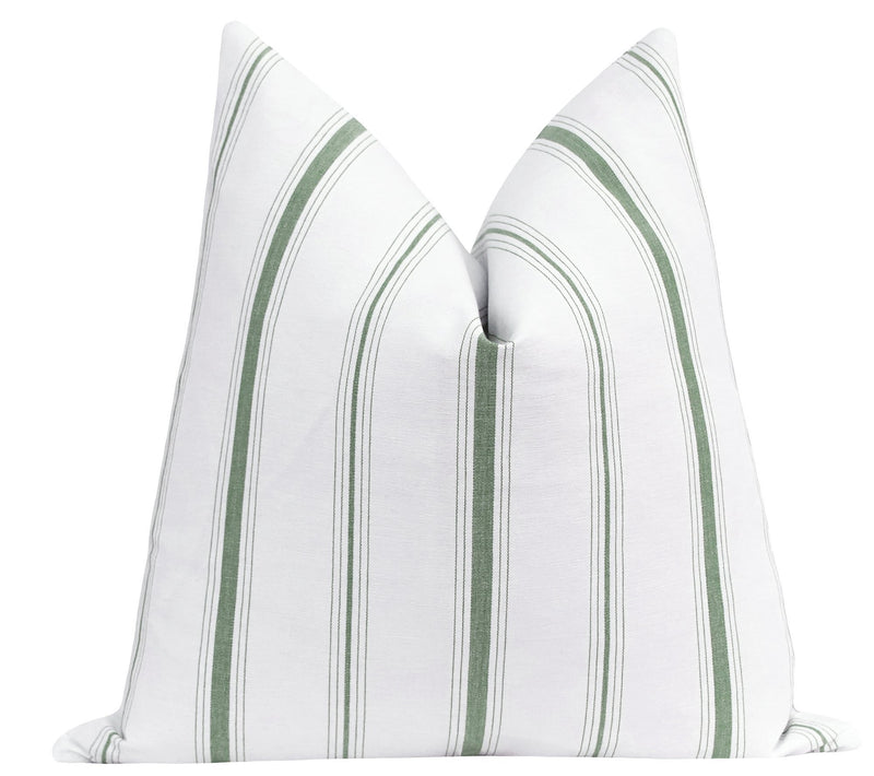 Harrison Snow Woven Off White Plaid Pillow