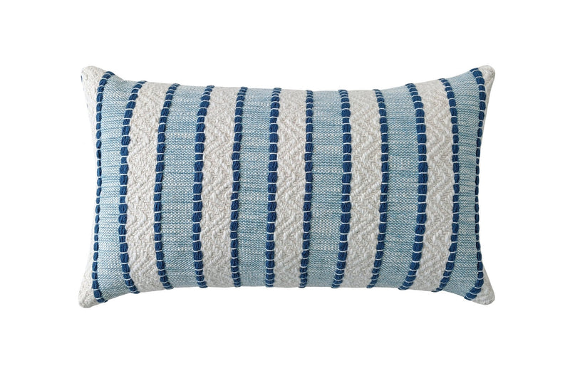 Beige and White Tribal Stripe Linen Pillow