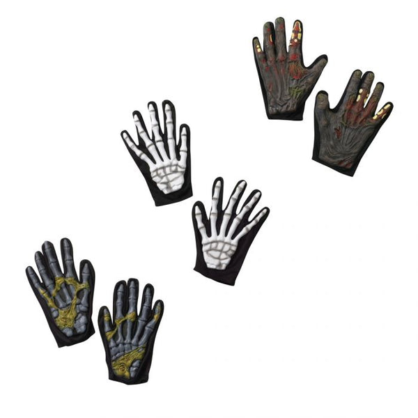 CHARACTER GLOVES SKEL ZOMBIE