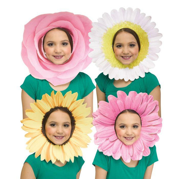 FUN FLOWER FACES MASK - PINK ROSE