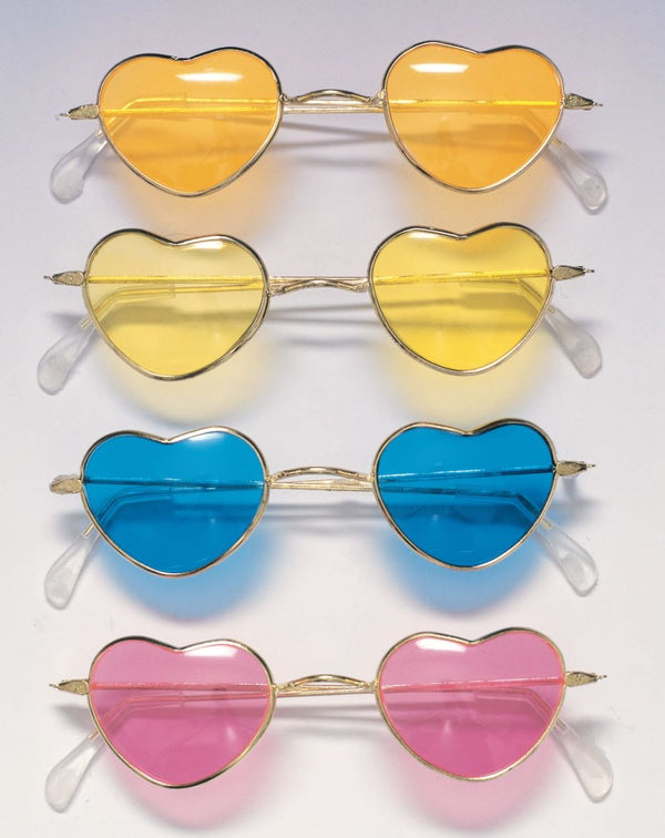 70'S HEART GLASSES