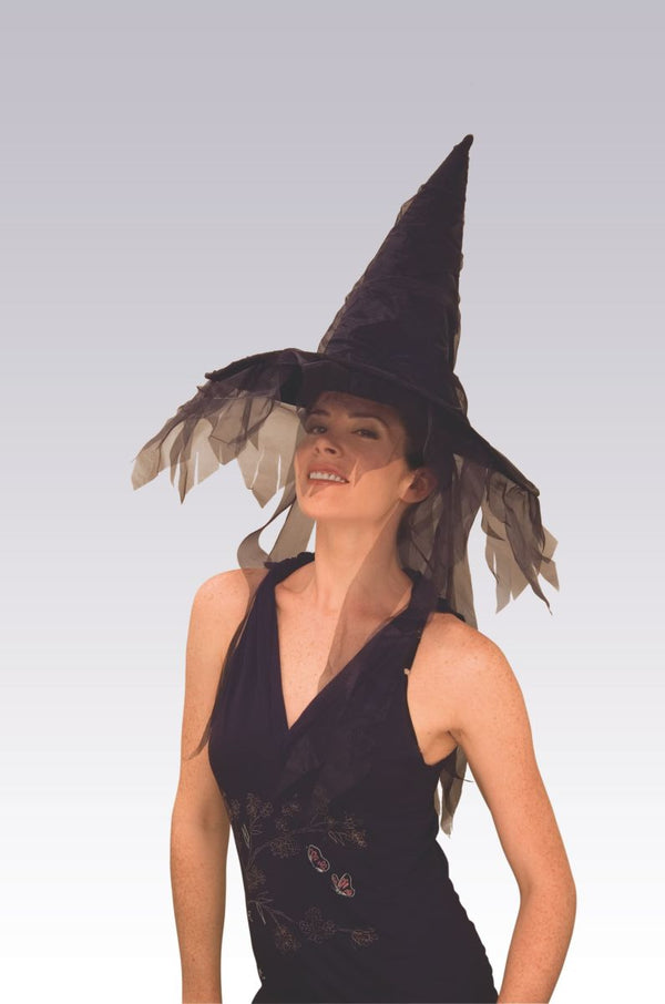 GHOST WITCH HAT-BLACK