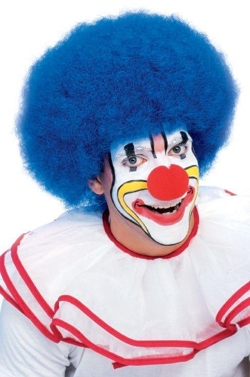 DLX CLOWN WIG-BLUE