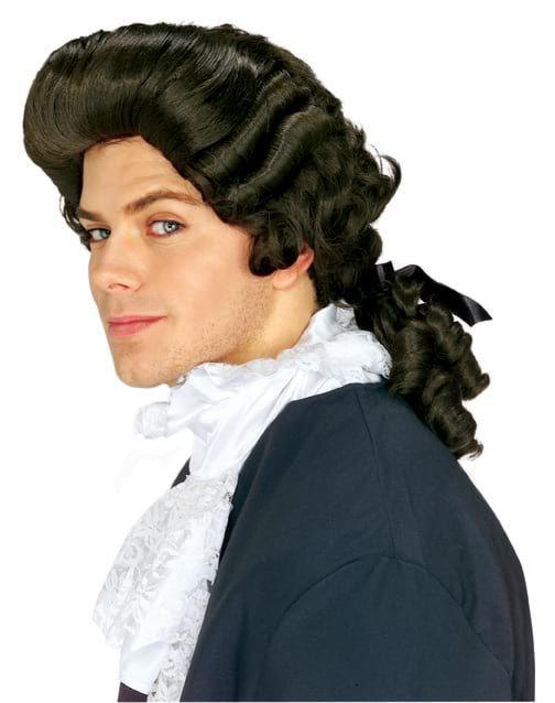 COLONIAL MAN WIG-BROWN