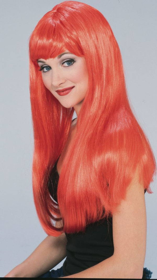 LONG GLAMOUR RED WIG