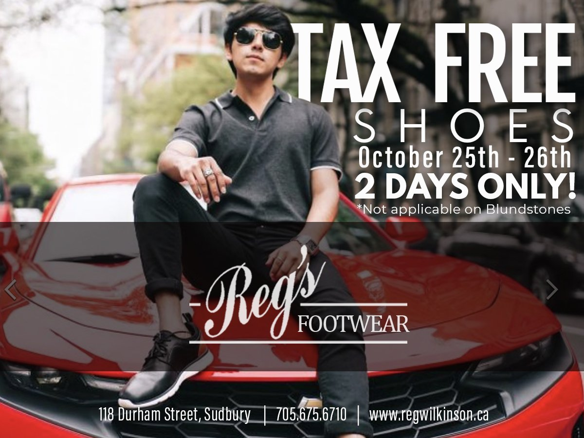 Tax Free Shoes - Two Days Only