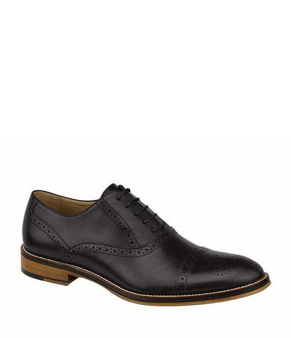 JOHNSTON & MURPHY BLACK CONARD CAP TOE